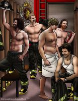 Merlin - Fire fighter AU series - (part 4 of a 5) by texasfandoodler