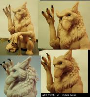 Wingless Gryphon by WickedSairah