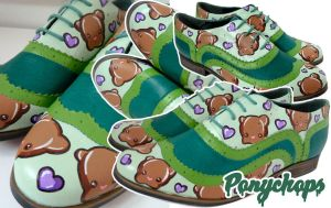 Teddy Bear Love Brogues by ponychops