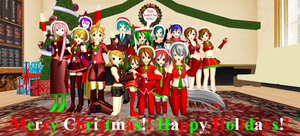 [MMD] Merry Christmas!! (2012) by Mario-McFly