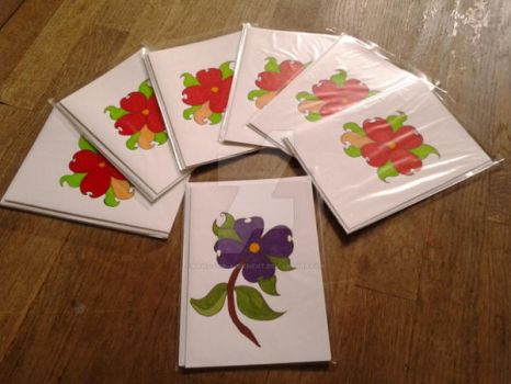 Handmade Cards: Flower Designs One and Two by Paws-for-a-Moment