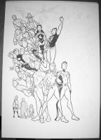 Legion of Superheroes WIP 3 by BevisMusson