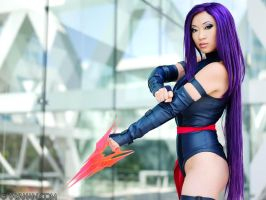 Psylocke and Psychic blade by yayacosplay
