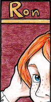 HP Bookmark: Ron by snow-white-kt