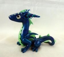 Ocean Baby Dragon Sculpture by ByToothAndClaw