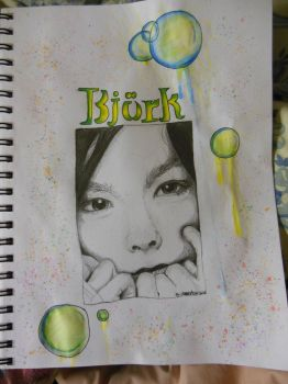 Finished Bjork drawing by DivinityParasite
