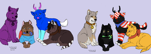 christmas wolves by wolvesanddogs23