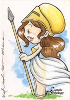 Athena Sketch Card - Katie Cook by Pernastudios