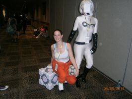 Chell and GLaDOS 2 by enterprisedavid