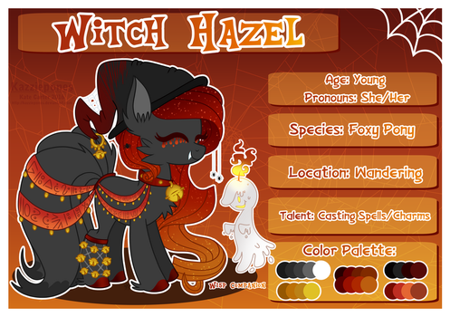 Witch Hazel Profile Sheet by Kazziepones