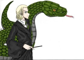 Arch Enemies Slytherin colored by phyrephoenix