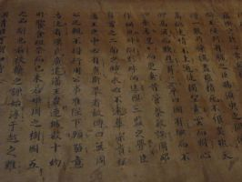 chinese handwriting by mimose-stock