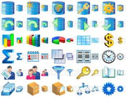 Database Software Icons by Ikont