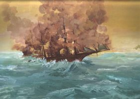 Manet's Kearsarge and Alabama by madmax2002