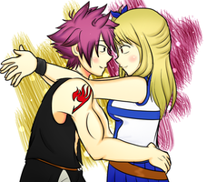 Natsu And Lucy by DipolarSquire