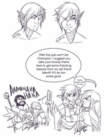 DA2 - Fenris Busts and Silliness by LadyZolstice