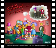 The Simpsons and Zapp by Lury