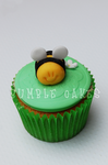 Cutie bug Bee Cupcake by MrsBumble