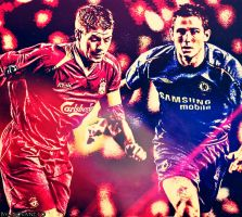 Steven Gerrard and Frank Lampard by TheAwesomeJeo