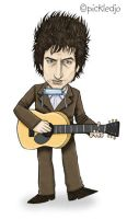 Bob Dylan Caricature by pickledjo