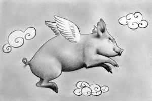 Ignatius the Flying Pig by IleanaHunter