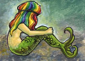 Rainbow Mermaid by sobeyondthis