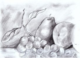 Drawing o Painting o Wax Fruit by Asderathos