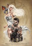 Khaleesi and Drogo by Kromespawn