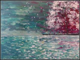 Ocean and the cherrytree by Embrymandre