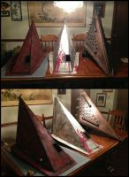 All of my Silent Hill Pyramid Helmets by TheDarkAssassin444