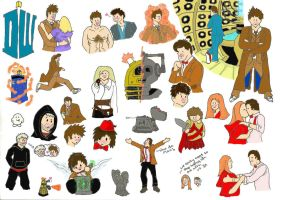 Doctor Who drawings-coloured by davids-little-star