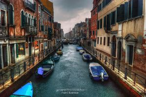 Rain in Venice by Pyr0sky