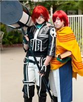 D Gray Man - 2nd Uniform Lavi and Deak by ShinrasFlurry