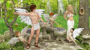 Cupid, Psyche and the Amorini