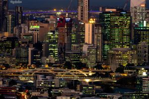 Brisbane by Dusk by droy333