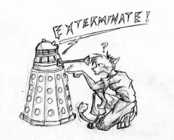 Poink a Dalek by ShadowCheetah