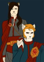 Surroth and Farian by gingertom84