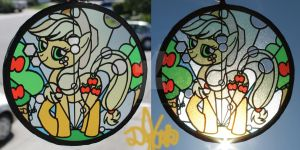 Applejack Sun Catcher by DevicTemple