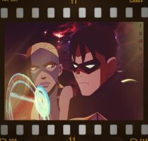 YoungJustice +Artemis and Robin+ Camacam11 by camacam11