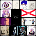 Summary of Art 2014 by CrazyVik97