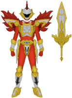 Power Rangers Time Force, Red Battle Warrior Armor by Taiko554