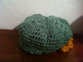 A hat that has been crocheted by ItalianInNaziTrainin