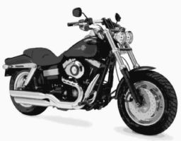 Harley Davidson FatBob Paint By Number Art Kit by numberedart