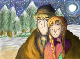 Anna and Kristoff by FizzyBubbles