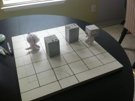 Giant Monster Battle board building test 2 by Hungryclone
