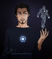 : Tony Stark : by Lala-Mot