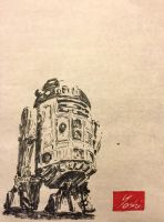 R2-D2 - Japanese traditional brush pen and paper by DefMart