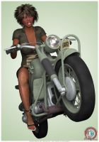 Military Girl ~ Full Throttle by PinUp-Artzone