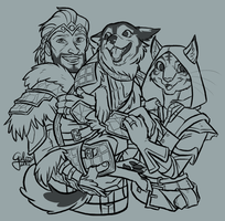 Commission: Kinzha's family by GalooGameLady