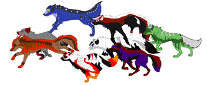 Beginning of a New Pack by DappleFeather